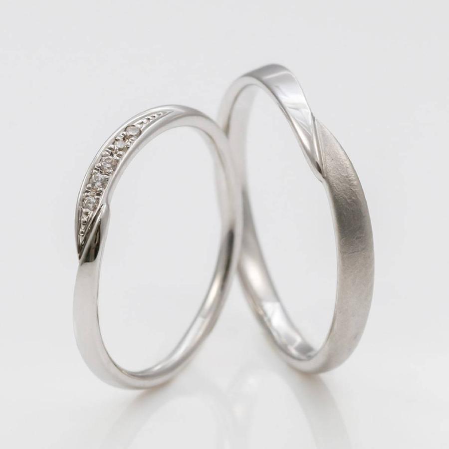ペアリング 2本セット 天然ダイヤ 安い シルバー925 ダイヤモンド 金属アレルギー 日本製 ホワイトデー ギフト プレゼント|cococaru|02