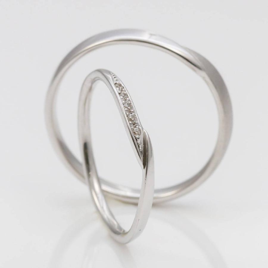 ペアリング 2本セット 天然ダイヤ 安い シルバー925 ダイヤモンド 金属アレルギー 日本製 ホワイトデー ギフト プレゼント|cococaru|03