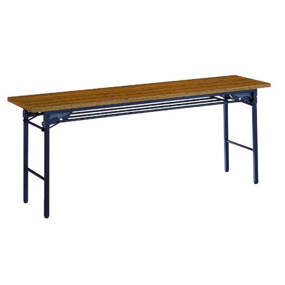 コクヨ/会議用テーブルKT-30 棚付き W1800*D450 W1800*D450 チーク
