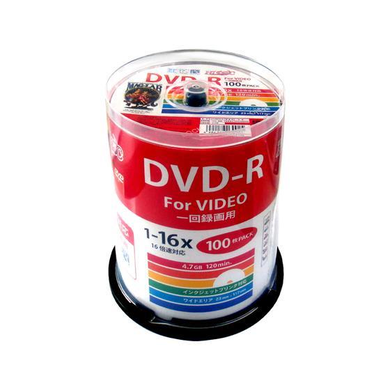 ハイディスク/CPRM対応 DVD-R 16倍速 100枚 スピンドル|cocodecow