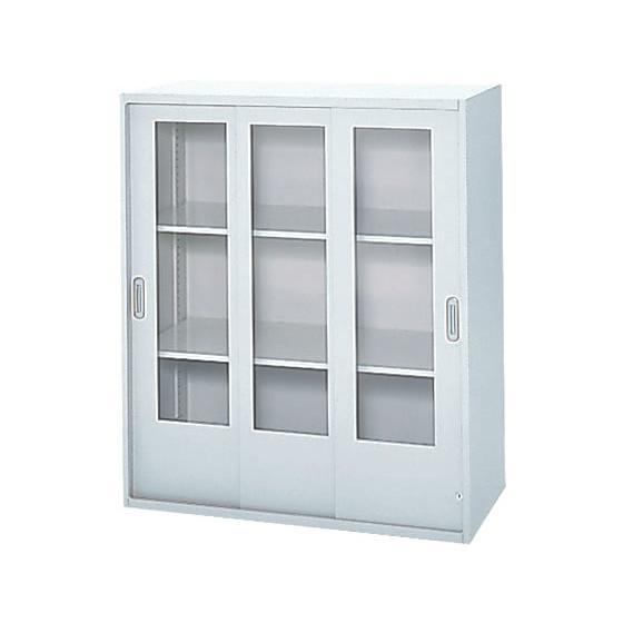 プラス/LX-5上置き 透明ガラス3枚引戸 透明ガラス3枚引戸 D400 ホワイト