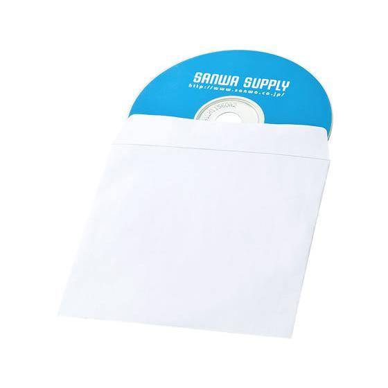サンワサプライ 人気上昇中 DVD FCD-PS100NWW 着後レビューで 送料無料 CDペーパースリーブケース100枚