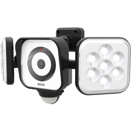 ムサシ/防犯カメラ付 LEDセンサーライト 8W×2灯/C-AC8160 8W×2灯/C-AC8160