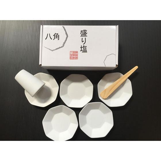 静岡木工 神棚用 新発売 神具 買物 八角 八角皿5枚付 セット 盛り塩