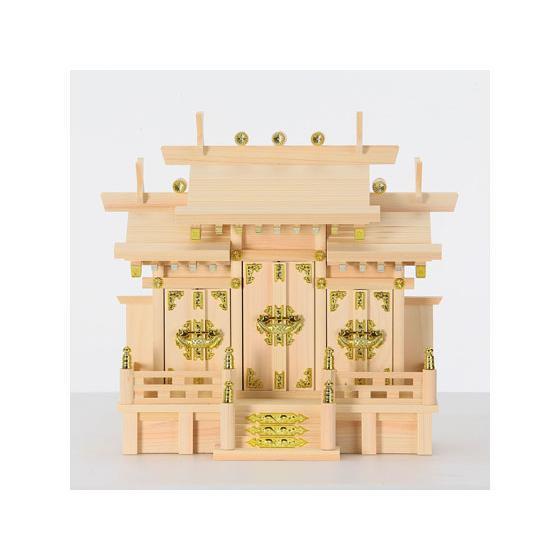 お取り寄せ 静岡木工 神棚 在庫処分 特小 屋根違い三社 人気ブレゼント