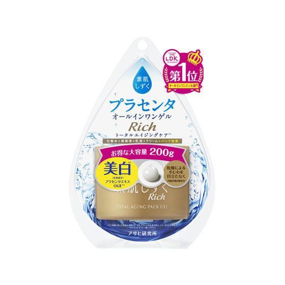 アサヒグループ食品 通販 激安 素肌しずく リッチゲル 200g 新作入荷!! トータルエイジング