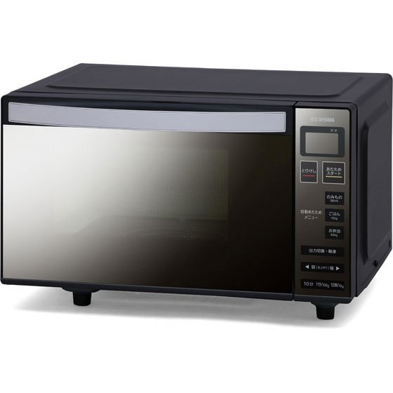 本物 アイリスオーヤマ 低廉 電子レンジ フラットテーブル 18L ミラーガラス MO-FM1804
