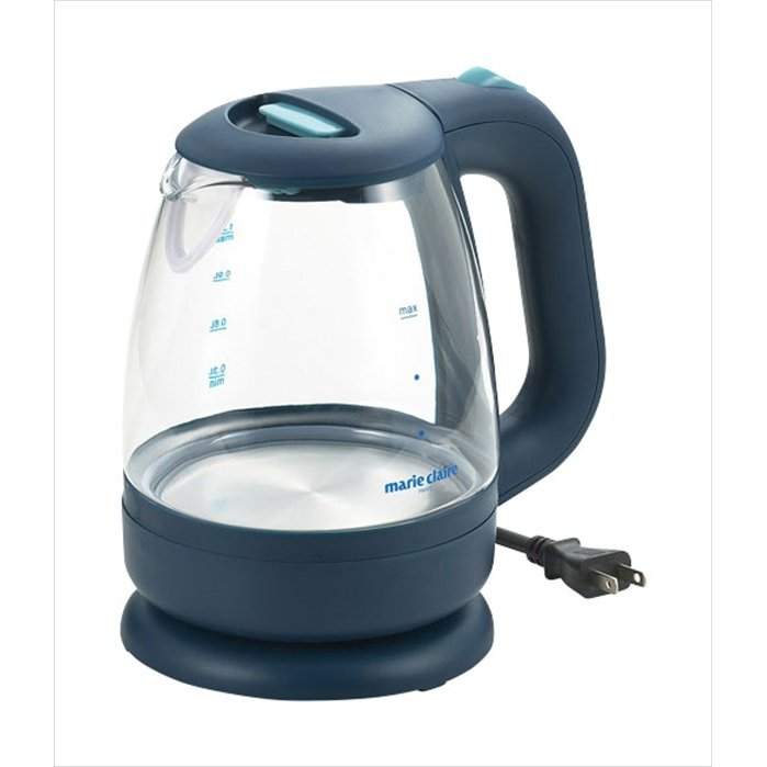 注目ブランド 送料無料 マリ クレールAqua Glass電気ケトルLED 超特価 4975192084557 MC-713L