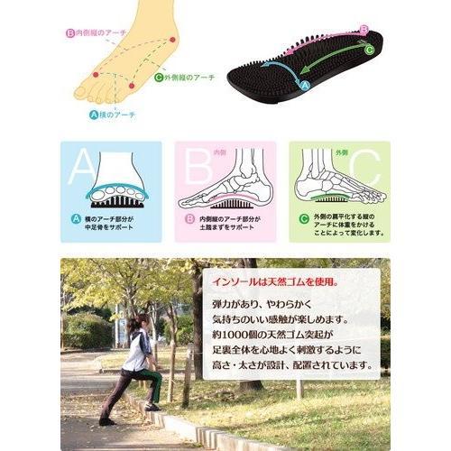 リトルアース ボディポップ(body+pop) ウォーク(Walk) 1403 ブラック24cm(サイズ目安:23.5〜24.5)|coconatural|04