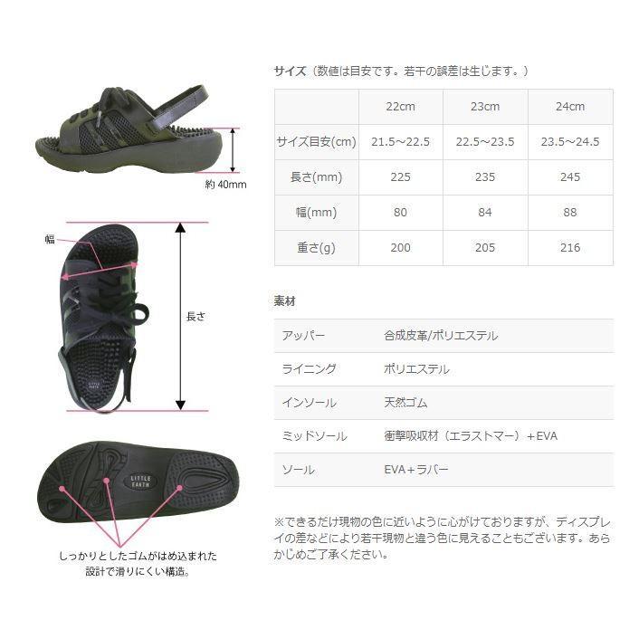 リトルアース ボディポップ(body+pop) ウォーク(Walk) 1403 ブラック24cm(サイズ目安:23.5〜24.5)|coconatural|07