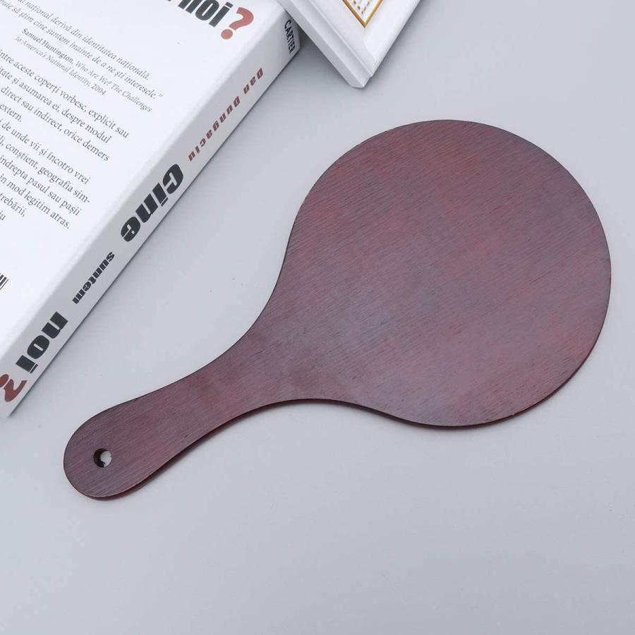 Frcolor ハンドミラー 木目調 手鏡 化粧鏡 携帯便利 手持ち メイクアップミラー かわいい おしゃれ(コーヒー)|coconina|09
