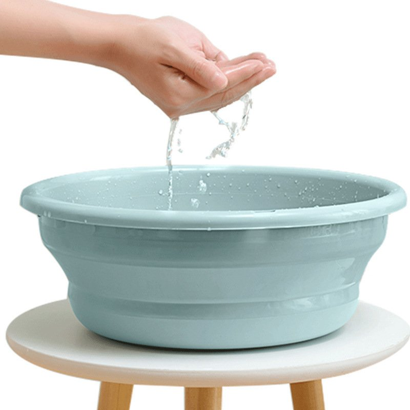 折りたたみ 洗い桶 洗面器 シリコン バケツ 折り畳み コンパクト 収納 キッチン つけおき 手洗い 洗車 洗濯|cocoro-shop|06