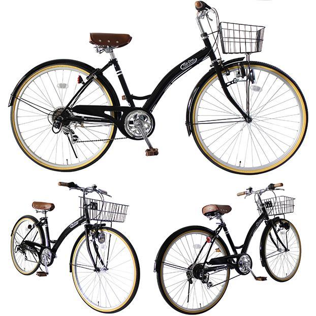 T-CCB266 ママチャリ 自転車 26インチ シマノ6段変速ギア カゴ 後輪錠 付き ダイナモライト 軽快車 TOPONE シティサイクル cocos-bike 11