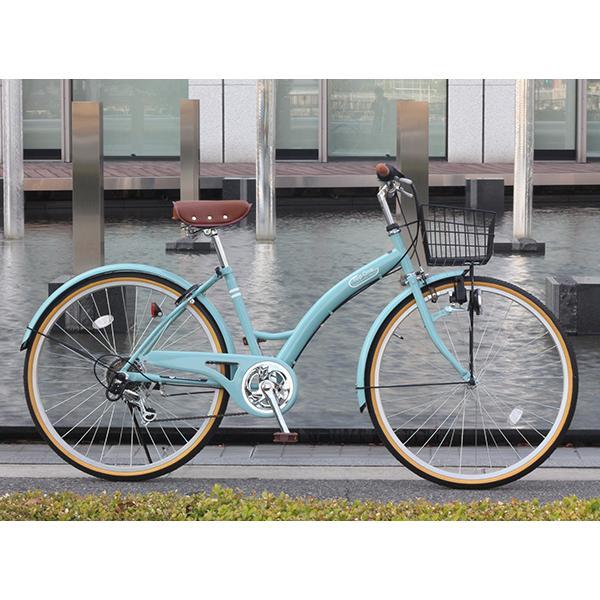 T-CCB266 ママチャリ 自転車 26インチ シマノ6段変速ギア カゴ 後輪錠 付き ダイナモライト 軽快車 TOPONE シティサイクル cocos-bike 05