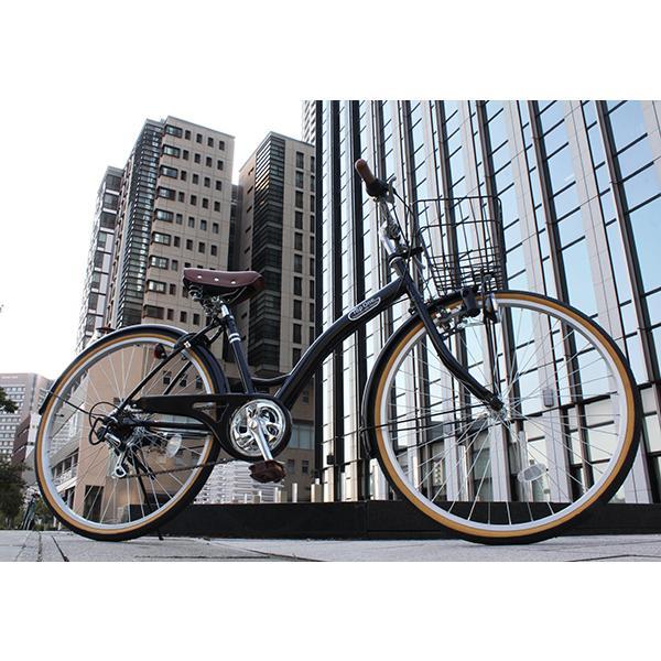 T-CCB266 ママチャリ 自転車 26インチ シマノ6段変速ギア カゴ 後輪錠 付き ダイナモライト 軽快車 TOPONE シティサイクル cocos-bike 06