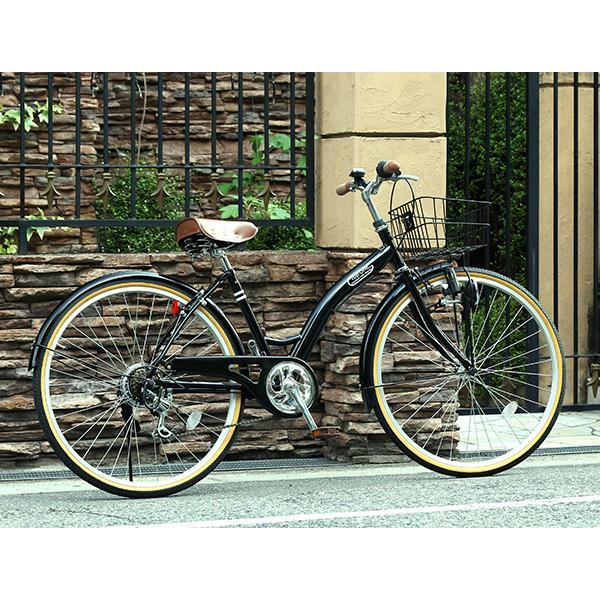 T-CCB266 ママチャリ 自転車 26インチ シマノ6段変速ギア カゴ 後輪錠 付き ダイナモライト 軽快車 TOPONE シティサイクル cocos-bike 07