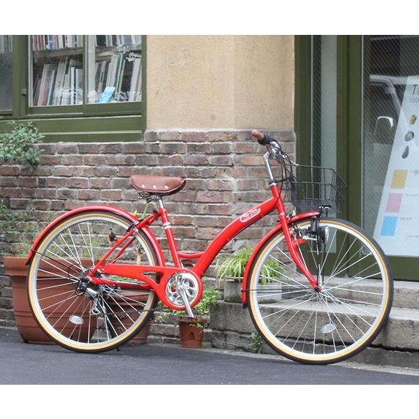 T-CCB266 ママチャリ 自転車 26インチ シマノ6段変速ギア カゴ 後輪錠 付き ダイナモライト 軽快車 TOPONE シティサイクル cocos-bike 08