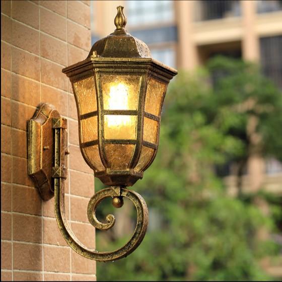 玄関照明 防水 防水 壁掛けライト レトロ ラケットライト 庭園灯 照明 照明器具 外灯 ウォールライト 壁掛け ポーチライト アンティーク風 門灯 屋外 ガーデン 廊下