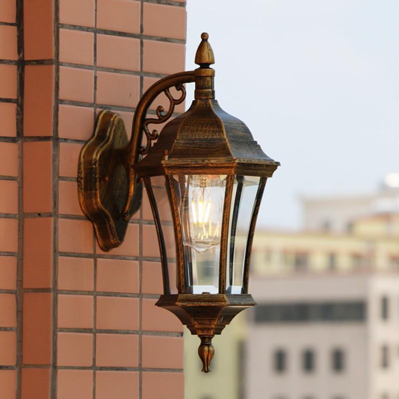 壁掛けライト ラケットライト ウォールライト 玄関照明 照明器具 レトロ レトロ レトロ 壁掛け照明 ポーチライト ガーデン アンティーク 壁掛け灯 防水 外灯 庭園灯 門灯 aec