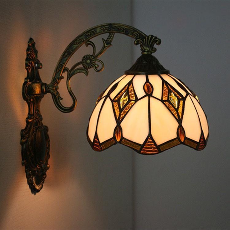 照明器具 ブラケットライト ブラケットライト ウォールライト 壁掛け照明 壁掛けライト 玄関灯 インテリア 室内照明 北欧 レトロ ステンドグラス アンティーク カフェ風