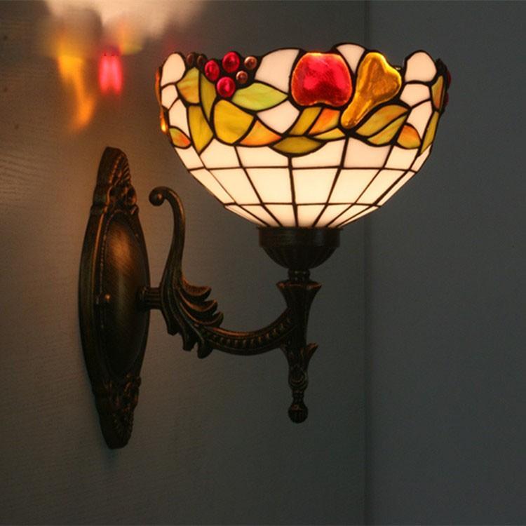 壁掛け照明 ブラケットライト 壁掛けライト 室内照明 室内照明 北欧 レトロ 玄関灯 照明 照明器具 ウォールライト インテリア ステンドグラス アンティーク カフェ風