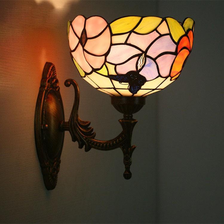 壁掛け照明 ブラケットライト 室内照明 室内照明 北欧 レトロ 壁掛けライト 玄関灯 照明 照明器具 ウォールライト インテリア ステンドグラス アンティーク カフェ風