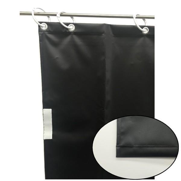 (代引不可)ユタカメイク:オーダー簡易間仕切りカラーターポリン ブラック ブラック ブラック 厚み0.25mm×幅320cm×高さ145cm fbe