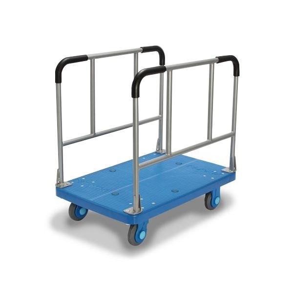 (代引不可)カナツー:長尺物運搬車静音300kg積載ストッパー付き PLA300-W-DS 工場 店舗 物流 運搬 台車