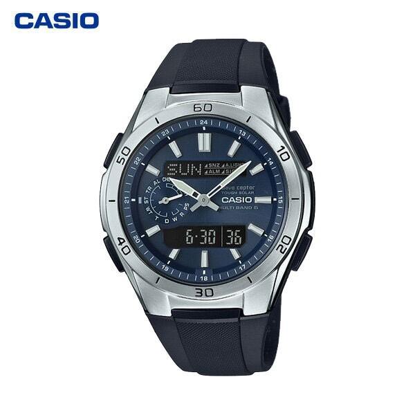 カシオ計算機(CASIO):電波ソーラーウオッチ(紳士用) WVA-M650-2AJF