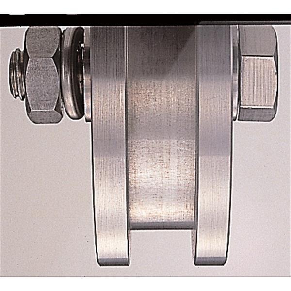 ヨコヅナ:ステンレス重量戸車 ステンレス枠 ワイドタイプ H型 300mm 車のみ(ボルト・ナット付) JBPW3006