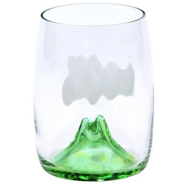 上越クリスタル硝子:月夜野工房 夕焼けのやま ビールグラス TCB-15