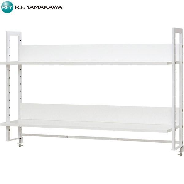 (代引不可)アール・エフ・ヤマカワ:ワークデスク 上置ハイシェルフ W1200 ホワイト ホワイト Z-LUSRH-1200WHK