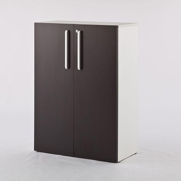 (代引不可)アール・エフ・ヤマカワ:プリーマ木製シェルフロー 共通扉付き 共通扉付き グレーバック SHWLS-LDGY
