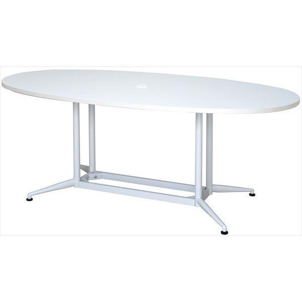 (代引不可)アール・エフ・ヤマカワ:OAオーバルテーブル W1800×D900 W1800×D900 W1800×D900 ホワイト RFOVT-OA1890WH e9c