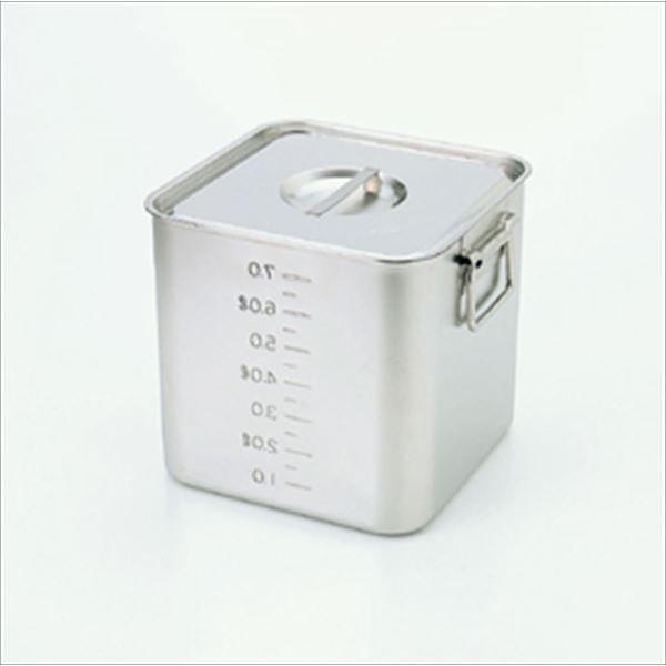 スギコ産業:スギコ 18-8目盛付深型角キッチンポット(フタ付) SH-4230D(手付) SH-4230D(手付) SH-4230D(手付) 341