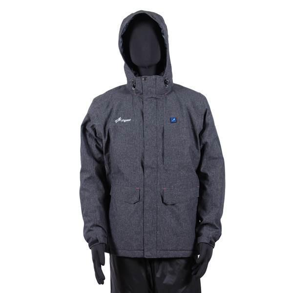 (代引不可)VIGUEUR(ヴィガール):日本製ヒーター付き暖房服防水防寒ジャケット VG-2021-CHA-L