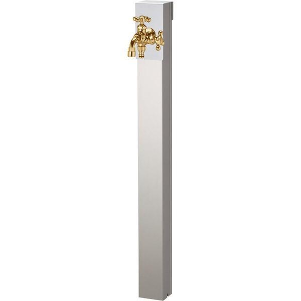 ユニソン(UNISON):リーナアロン 950スタンド シルバー ツイン蛇口1個セット ゴールド 600622110