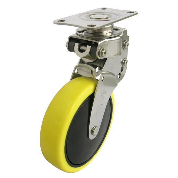 ユーエイ:SKYキャスター SKY-S型 自在キャスター 帯電防止性ウレタン(ナイロンホイル,B入)車 車輪径 φ125 SKY-S125SUE-1