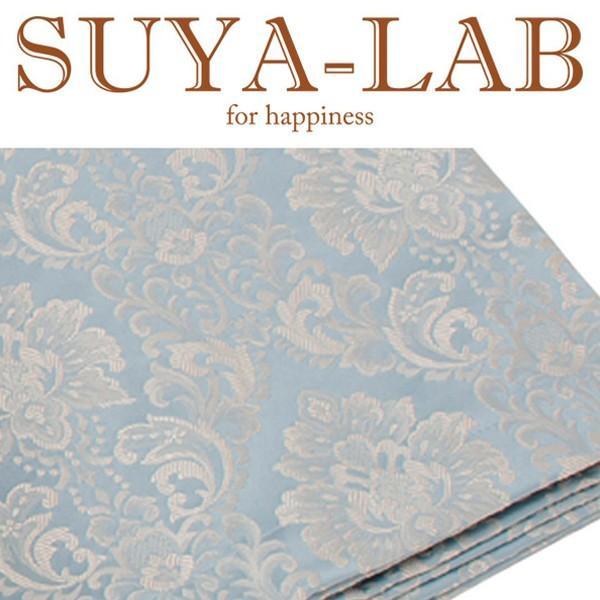 SUYA-LAB:ベッドスプレッド ダマスク ダマスク B-S ブルー 22410-89618/306
