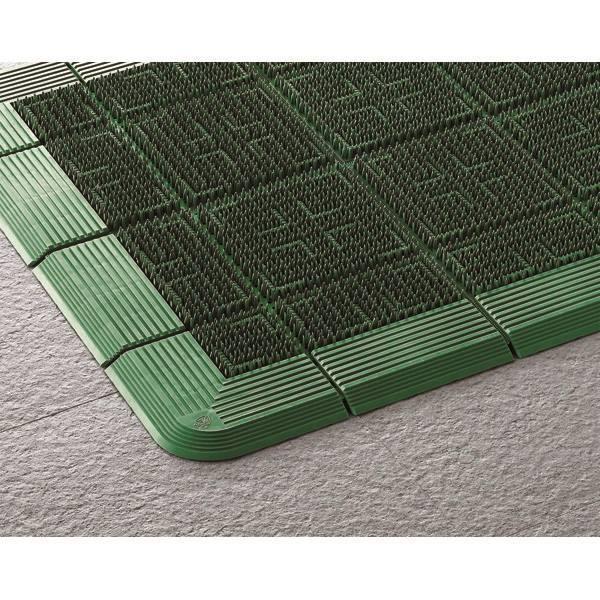 (代引不可)山崎産業:エバック クロスハードマット #15 (900×1500) グリーン F-112-15