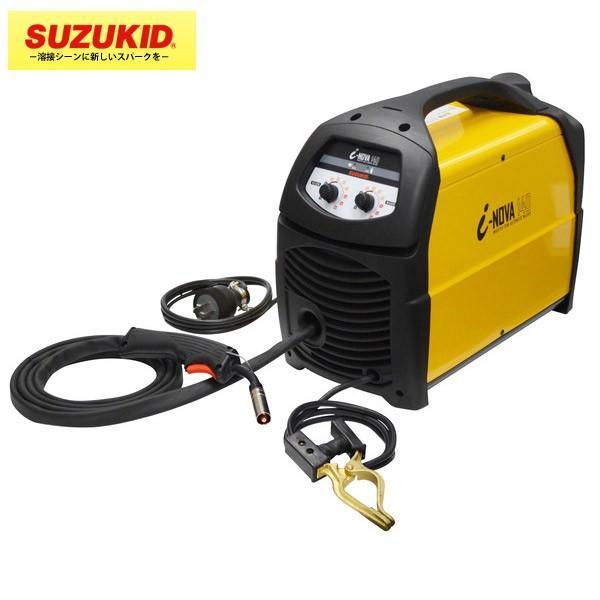 SUZUKID(スズキッド) :ノンガス/MIG/MAG 直流インバータ 半自動溶接機アイノーヴァ SIV-140 ガス溶接