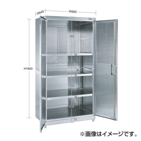 (代引不可)SAKAE(サカエ):ステンレス保管庫 PNH-9063PSU4