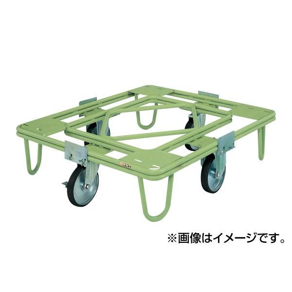 (代引不可)SAKAE(サカエ):自在移動回転台車 200φゴム車(取手なし) RE-5G