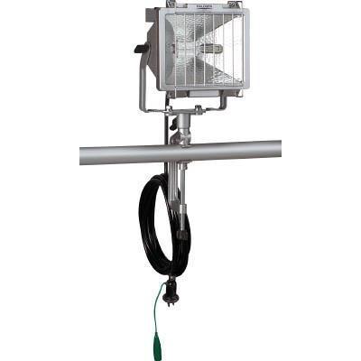 ハタヤ 防雨型ハロゲンライト 500W 100V接地付電線5m バイス付(1台) PH505KN 4538552