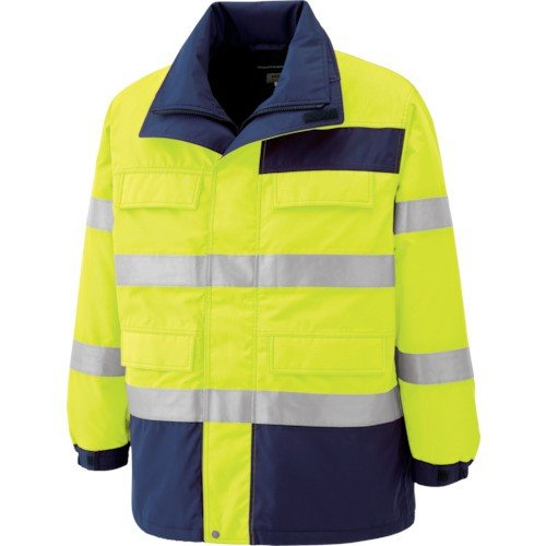 ミドリ安全 高視認性 防水帯電防止防寒コート イエロー 4L SE1124UE4L 7978634