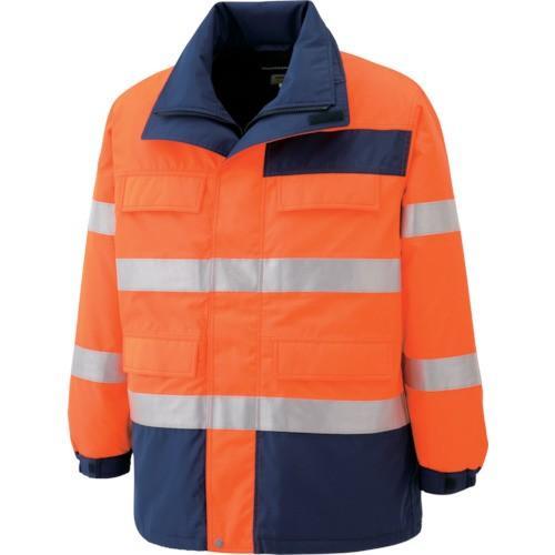 ミドリ安全 高視認性 防水帯電防止防寒コート オレンジ SS SE1125UESS 7978855