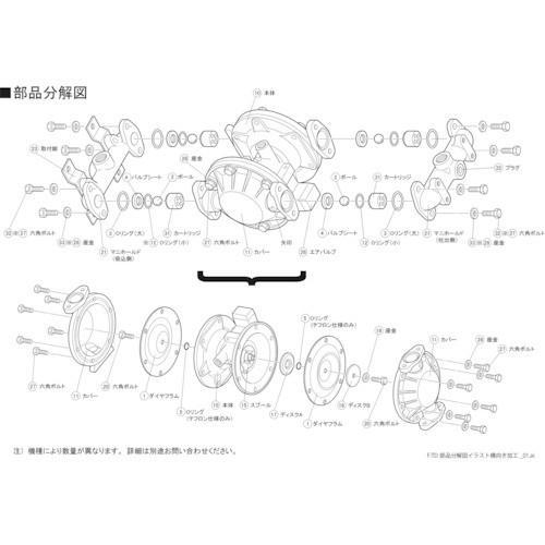 TAIYO TD2-25AT用ダイヤフラム TD225AT001 8289215