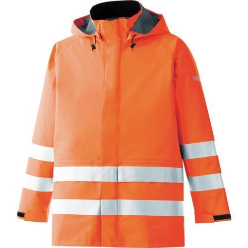 ミドリ安全 雨衣 レインベルデN 高視認仕様 上衣 蛍光オレンジ S RAINVERDENUEORS 8357353