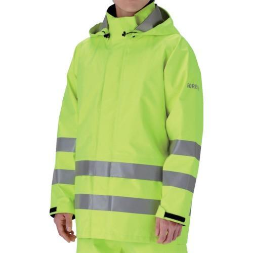 ミドリ安全 雨衣 レインベルデN 高視認仕様 上衣 蛍光イエロー M RAINVERDENUEYM 8357359