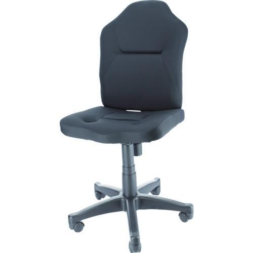 TRUSCO ダブルクッション 長時間椅子(肘掛無し) ブラック TWCCBK TWCCBK 8557769